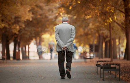 depositphotos 166631686 stock photo old man walking in autumn